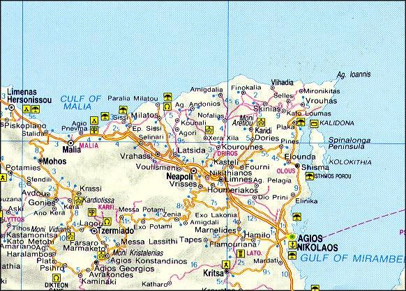 Agios Nikolaos map